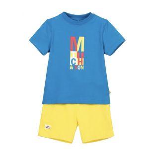 Mitch & Son Blue & Yellow Congress Shorts Set