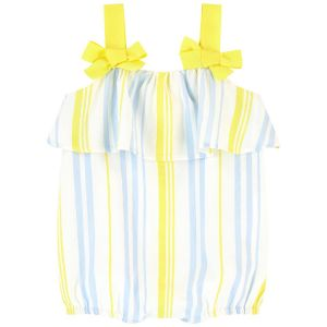 Lili Gaufrette Yellow & Blue Striped Shortie