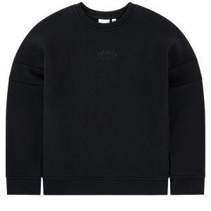 BOSS Kidswear Black Ruberised Logo Sweatshirt