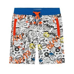Billybandit Grey & Orange Cotton Shorts