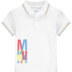 Mitch & Son Boys White Cotton Carrick Polo Shirt