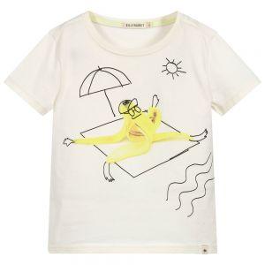 Billybandit Boys Ivory Cotton Banana T-Shirt