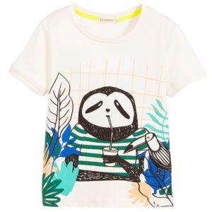 Billybandit Boys Ivory Cotton Sloth T-Shirt