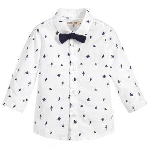 Billybandit Boy's White Cotton Shirt