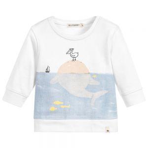 Billybandit Boy's Seaside Print White Sweatshirt