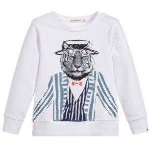 Billybandit Boy's White Tiger Sweatshirt