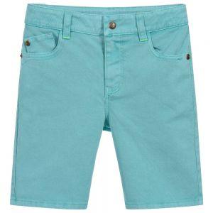 Billybandit Turquoise Cotton Twill Shorts