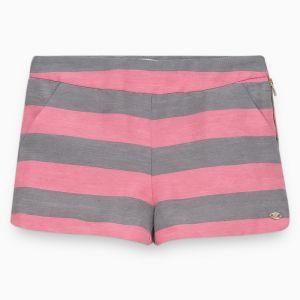 Tartine et Chocolat Girl's Pink And Grey Shorts