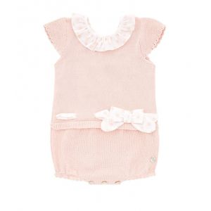 Paz Rodriguez Baby Girl's Bow Detail Playsuit