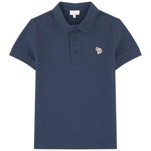 Paul Smith Junior Boys Navy Blue 'Ridley Per' Piqué Polo Shirt