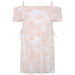 Carrément Beau Girl's Pink And White Sun Dress