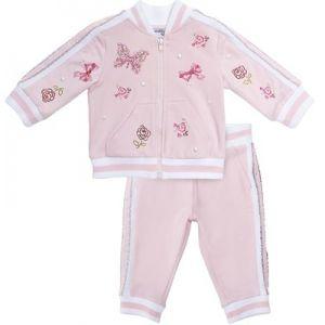Monnalisa Bebé Girls Pink Butterfly Tracksuit