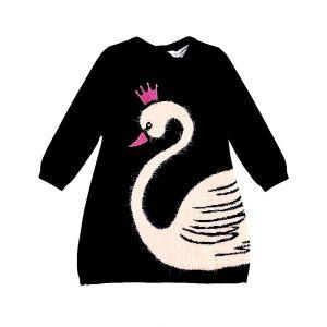 Little Marc Jacobs Baby Girl's Navy Swan Dress