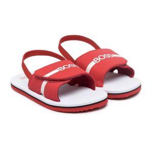 BOSS Kidswear Boys Red Logo Sandals
