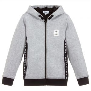 DKNY Boys Grey Zip-Up Top
