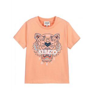 KENZO KIDS Coral Pink Tiger T-Shirt