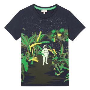 Paul Smith Junior Boys Navy Blue 'Adelin' Cotton T-Shirt