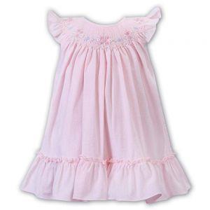 Sarah Louise Girls 'Dani' Pink Smocked Yoke Dress