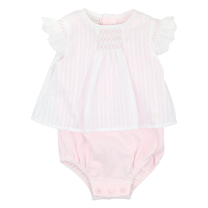 Paz Rodriguez Baby Girl's Pink & White Body Suit