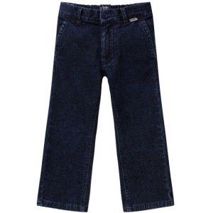 Il Gufo Boys Stretch Denim Flock Print Jeans