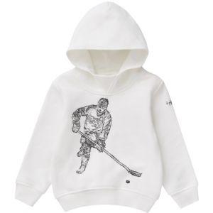 Il Gufo Milky White Ice Hockey Embroidered  Motif Sweatshirt
