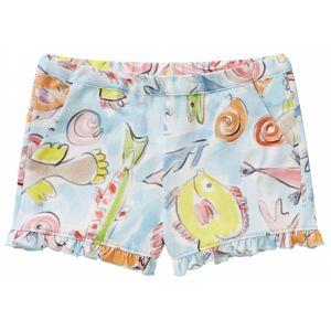 Il Gufo Girls Cotton Sea Print Shorts
