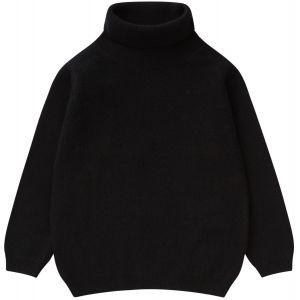 Il Gufo Girls Black Polo Neck Sweater