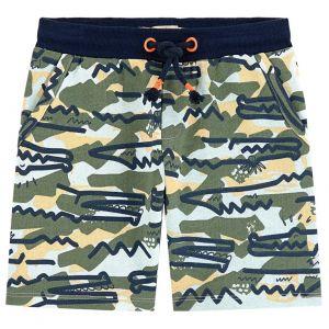 Billybandit Green Camo and Crocodile Print Cotton Shorts