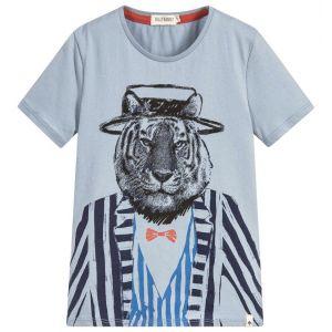 Billybandit Boy's Blue Tiger T-Shirt