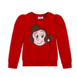 Monnalisa Red Cotton Olive Oyl Top
