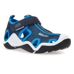 Geox Boy's Sky Blue And Navy Wader