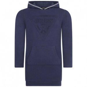 GUESS Navy Hooded Sweatshirt Logo Dress