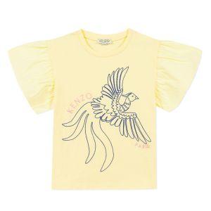 Kenzo Kids Girls Yellow Cotton T-Shirt