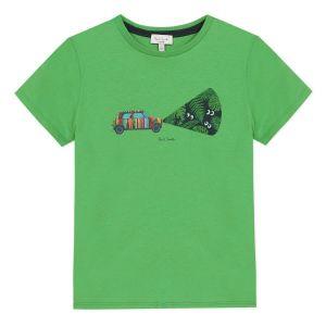 Paul Smith Junior Boys Green 'Abdel' Cotton T-Shirt