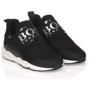 BOSS Kidswear Black Logo Trainers