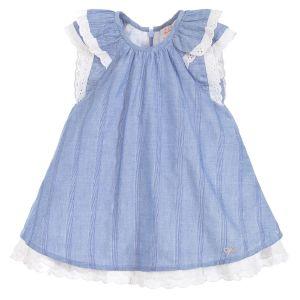 Lili Gaufrette Blue Cotton Chambray Dress