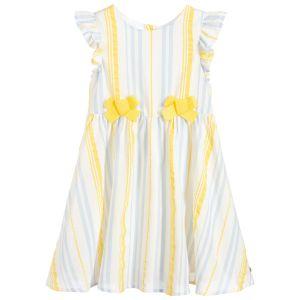 Lili Gaufrette Yellow & Blue Striped Dress