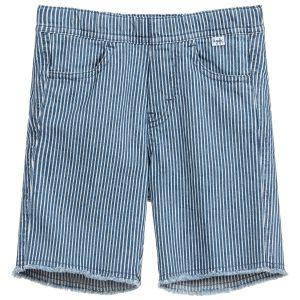 Il Gufo Boys Blue and White Striped Cotton Shorts