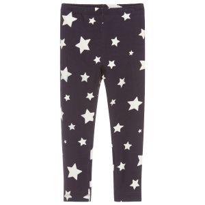 Monnalisa Girls Blue Star Cotton Leggings