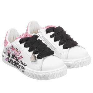 Monnalisa White Pink Panther Trainers