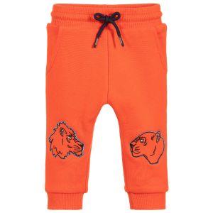 Kenzo Kids Baby Boys Orange Cotton Joggers