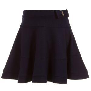 Lili Gaufrette Blue Viscose Jersey Skirt