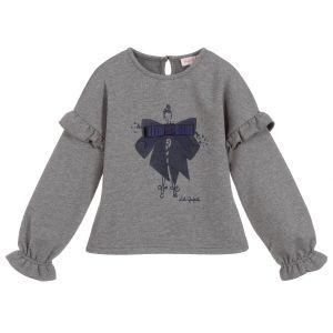 Lili Gaufrette Girls Grey Lowe Sweatshirt