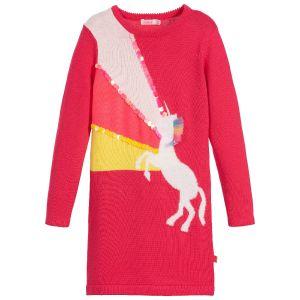 Billieblush Pink Cotton Knit Unicorn Dress