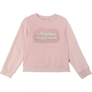 Billieblush Girls Pink Choose Happiness Sweatshirt