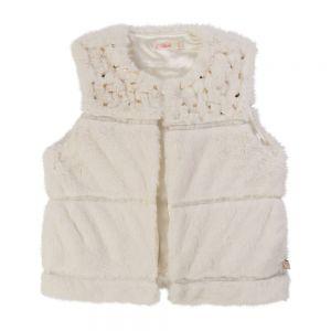 BILLIEBLUSH Girls Ivory Fur Gilet