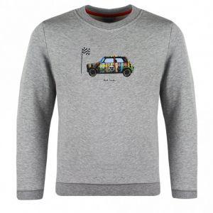 Paul Smith Junior Boys Grey Cotton Vican Sweatshirt