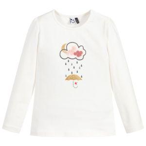 3Pommes Girls Ivory Cotton Umbrella Top
