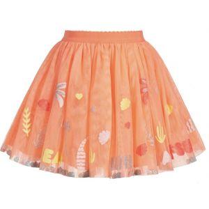 Billieblush Girls Orange Tulle Skirt