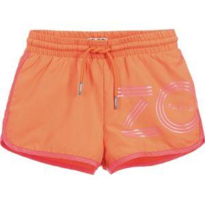 Kenzo Kids Girls Orange Logo Swim Shorts